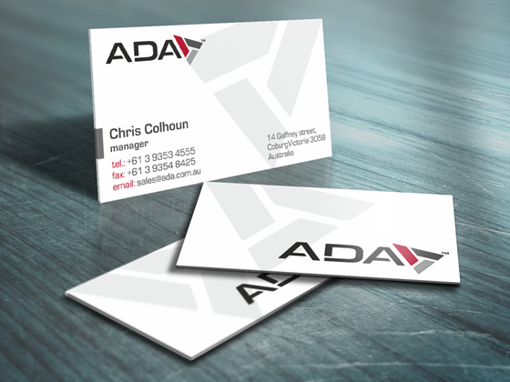 Stationery section: ADA